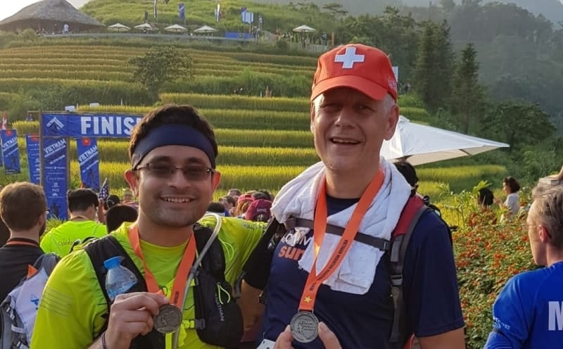 Vietnam mountain marathon with my buddy Surajit