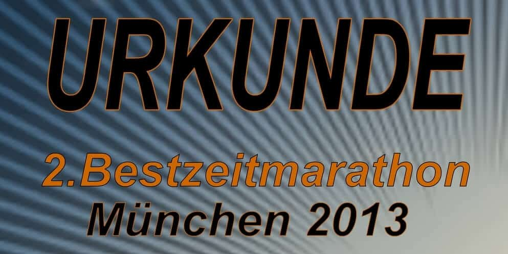 PB-Marathon (BestZeitMarathon) in Munich (Germany)