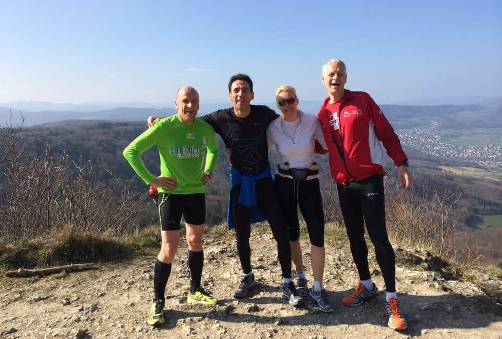 Longjogg with Christoph, Darja and Markus (The Coach)